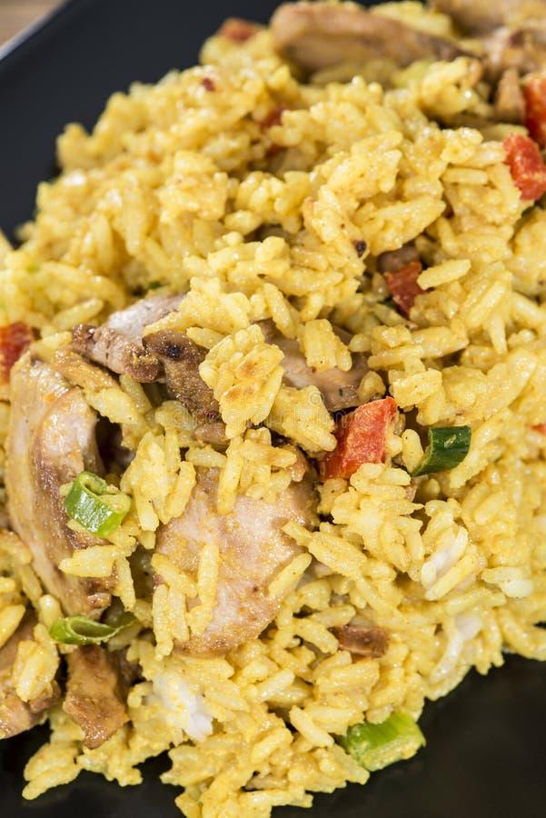 Porzione di riso di curry fotografia stock