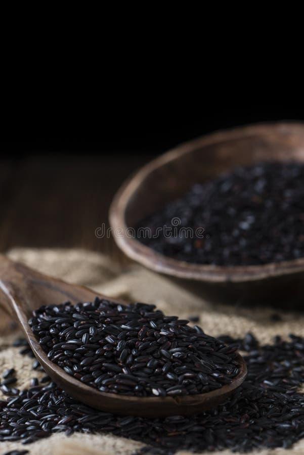 Porzione di riso nero fotografia stock