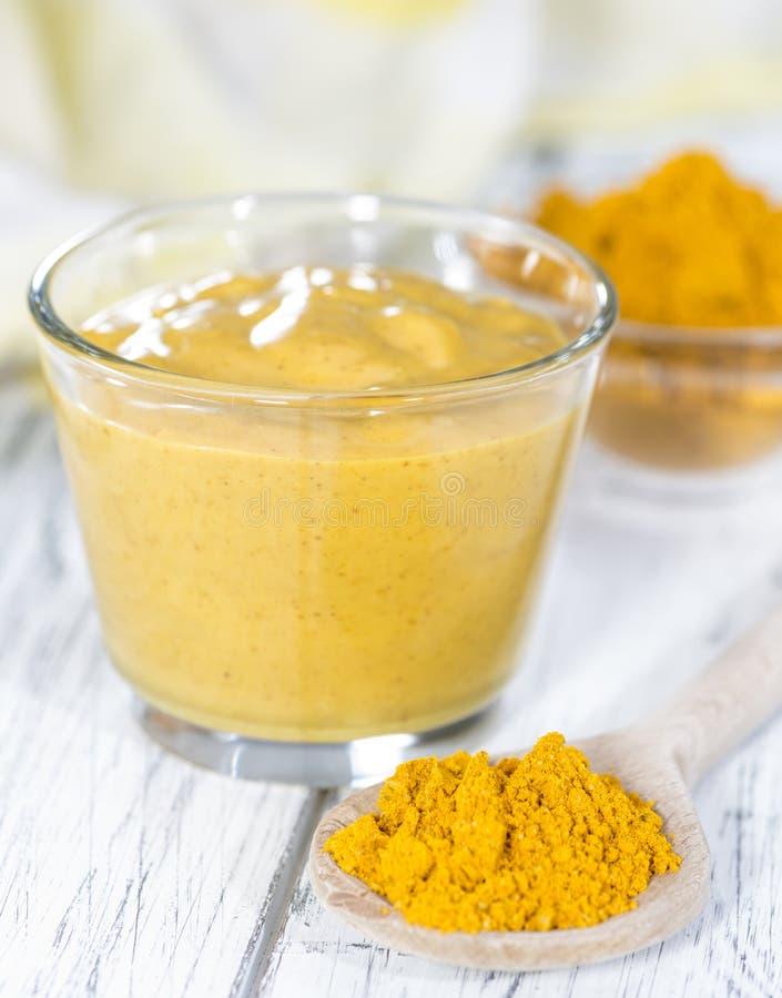 Porzione di salsa di curry fotografie stock