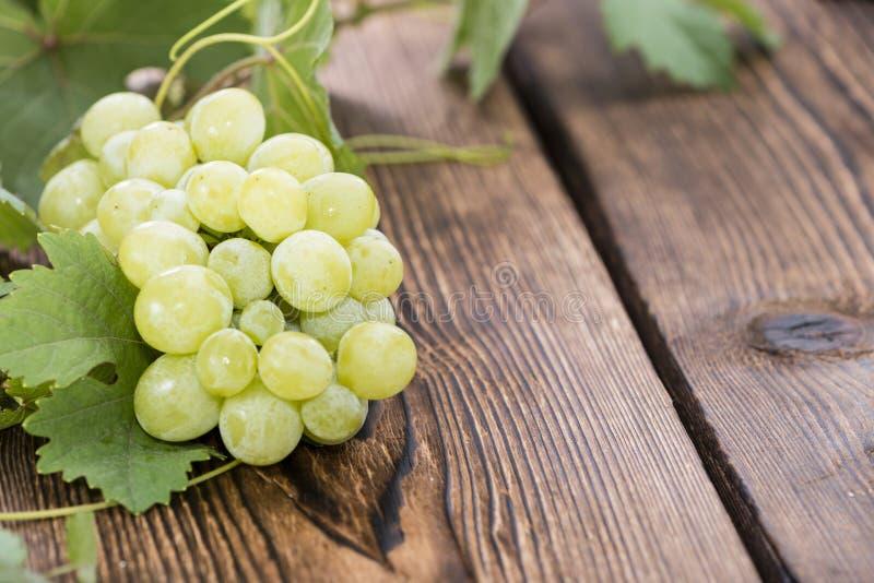 Porzione di uva verde fresca immagine stock libera da diritti