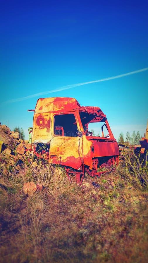 porzuconą ciężarówkę obrazy stock