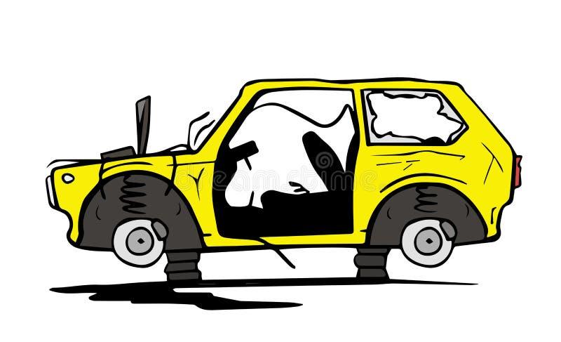 porzucony samochód ilustracja wektor