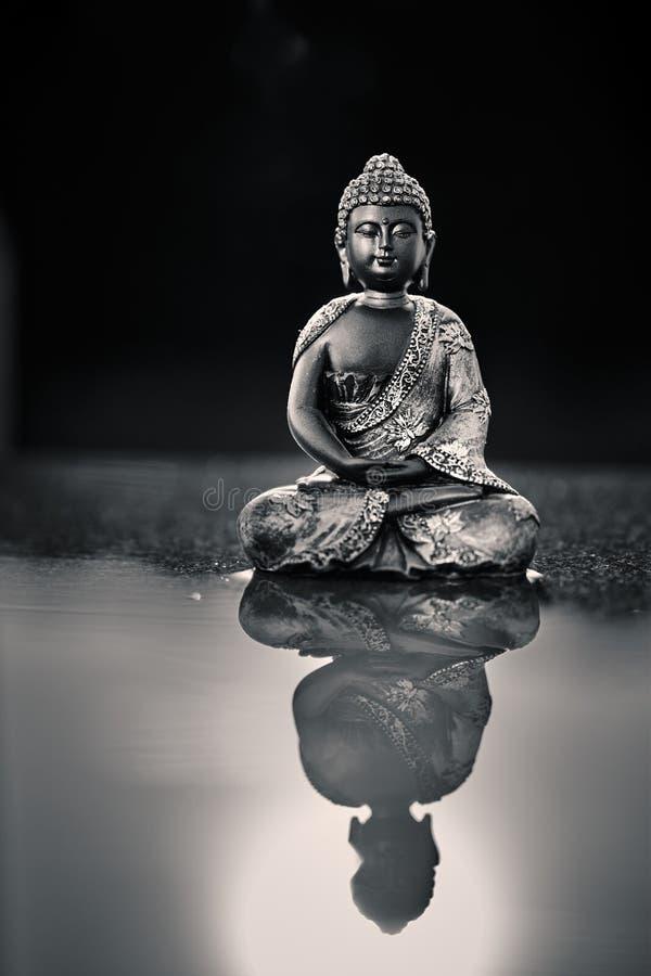 Posąg Buddy, zarośnięty słońcem obrazy royalty free