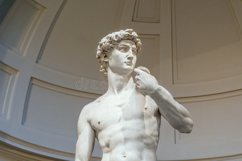 Posąg Davida Marble'a w Galleria dell`Accademia, Firenze, Włochy zdjęcia stock