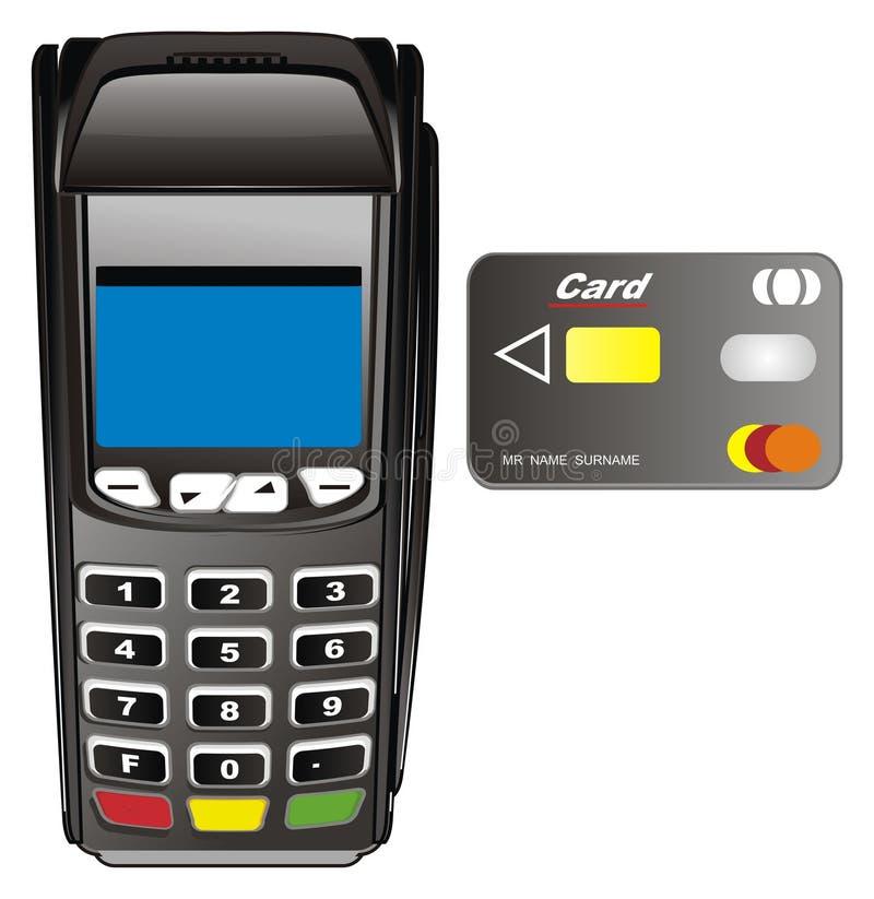 POS终端和卡片 向量例证