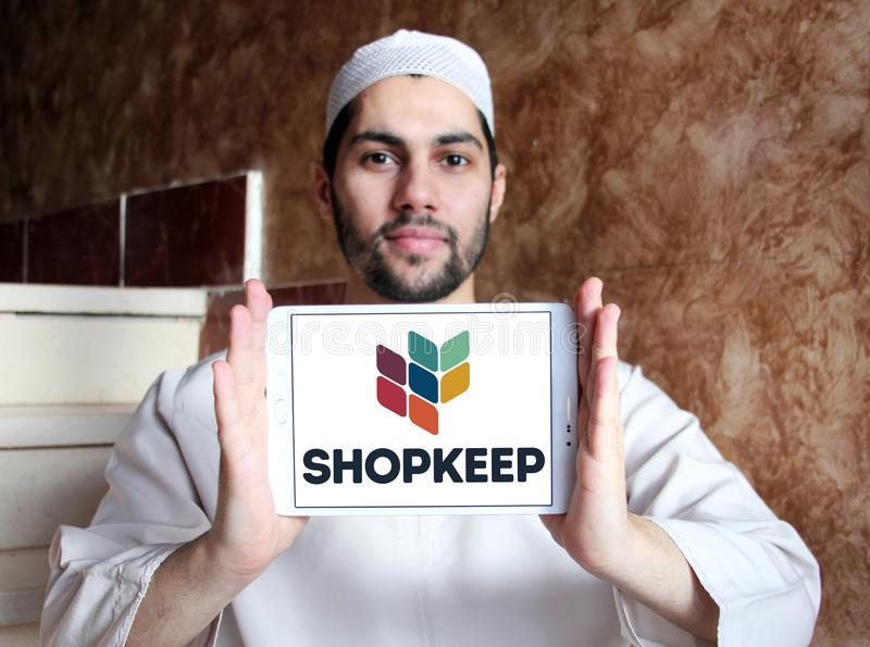 POS θέσεων πώλησης ShopKeep λογότυπο συστημάτων στοκ εικόνες