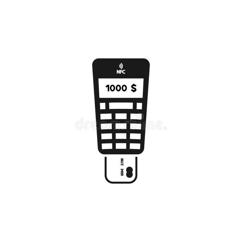 POS Creditcard Eind Vlak Pictogram op Witte Achtergrond Eps10 stock illustratie