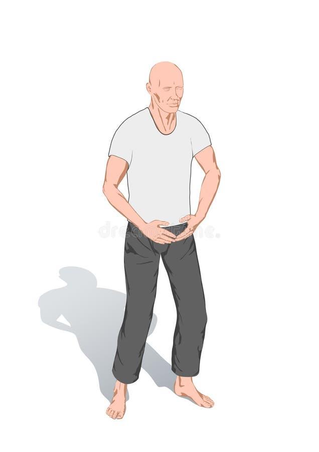 pos. för chigymnastikkung royaltyfri illustrationer