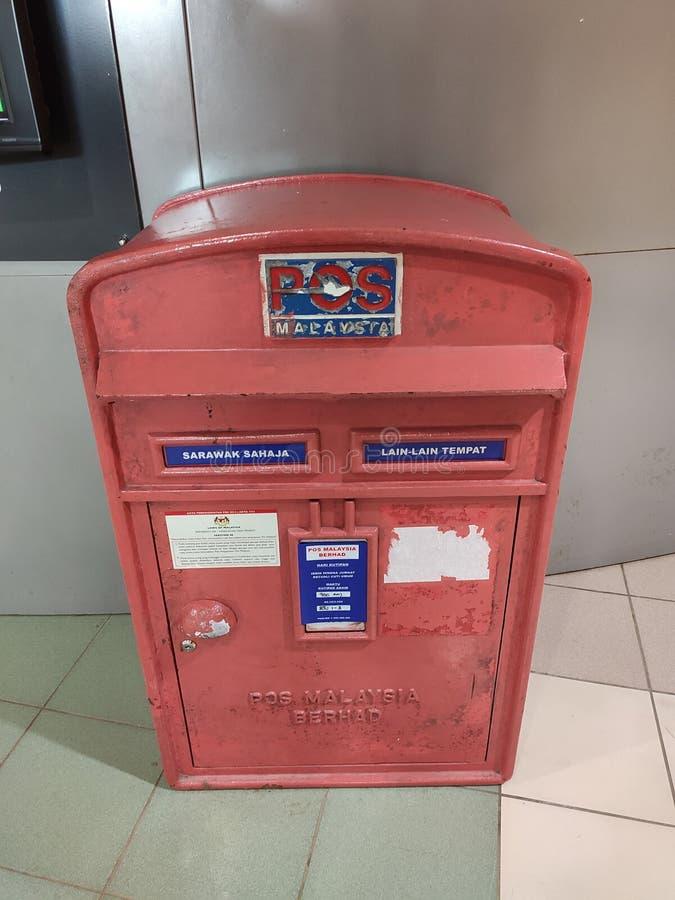 Pos Malaysia Red mail box stock photo