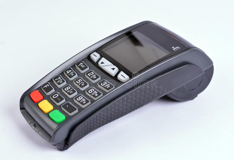 POS Payment GPRS Terminal. Isolated on white stock photo
