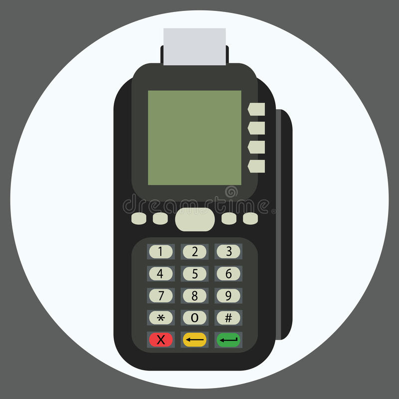 POS terminal flat vector icon. royalty free illustration