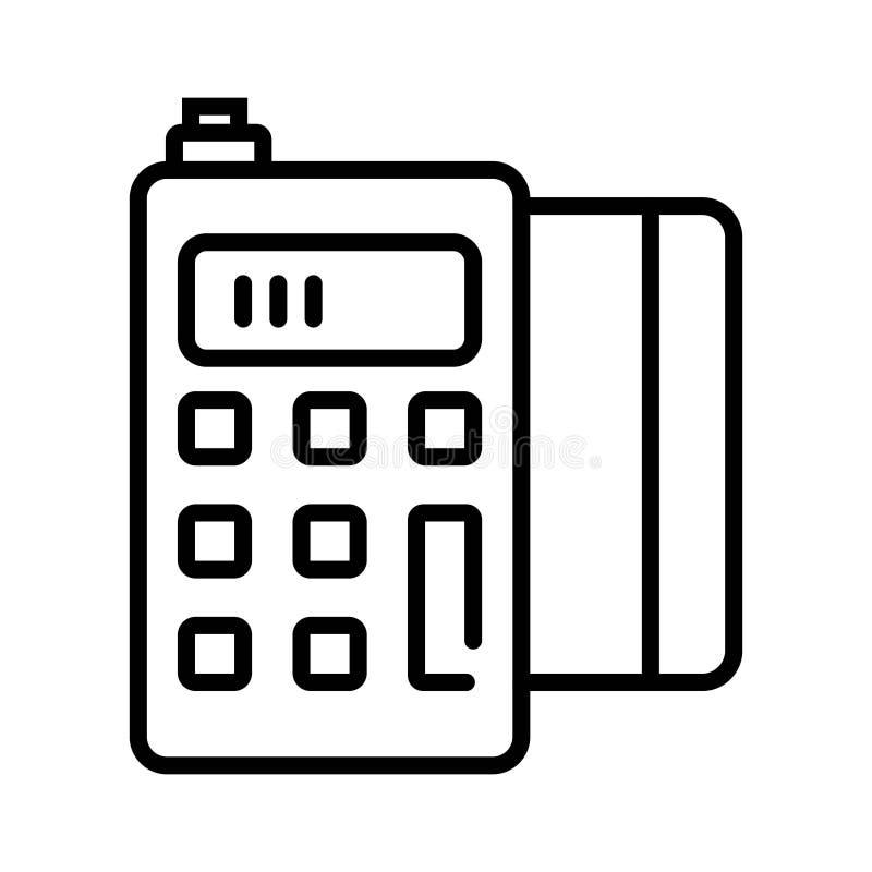 POS terminal icon royalty free illustration