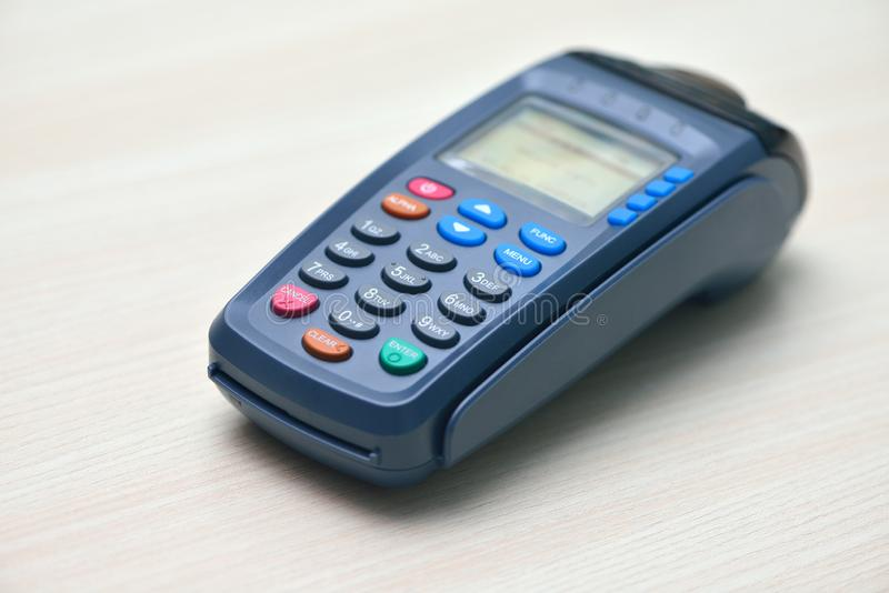 Pos terminal. On the table royalty free stock images