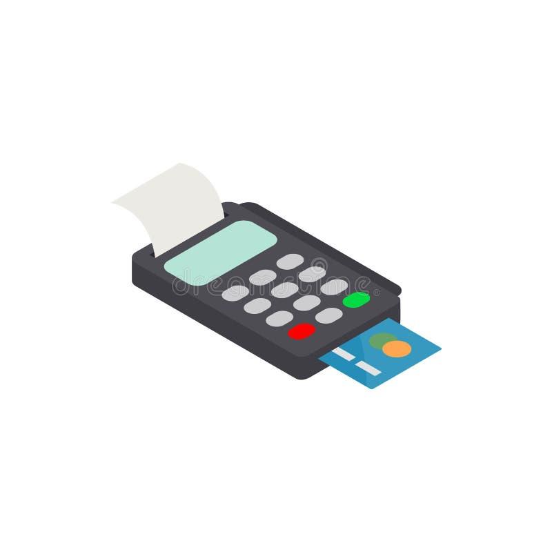POS Terminal z Kredytowej karty ikoną ilustracji