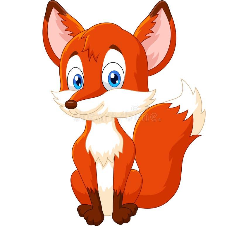 Posa animale della volpe del fumetto royalty illustrazione gratis