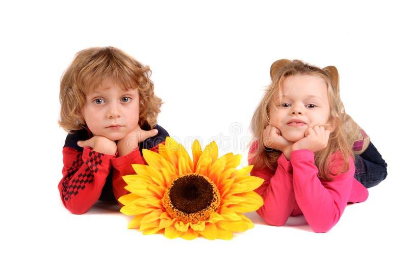 Posa dei bambini fotografia stock