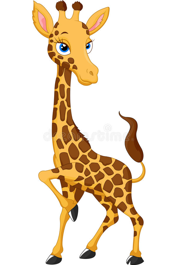 Posa della giraffa del fumetto royalty illustrazione gratis