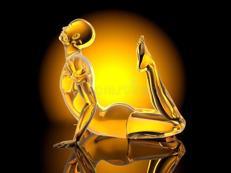 Posa di yoga - re Cobra illustrazione di stock
