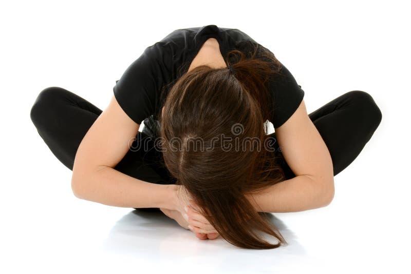 Posa rilegata Baddha Konasana, posa di angolo di asana di yoga della farfalla immagine stock libera da diritti