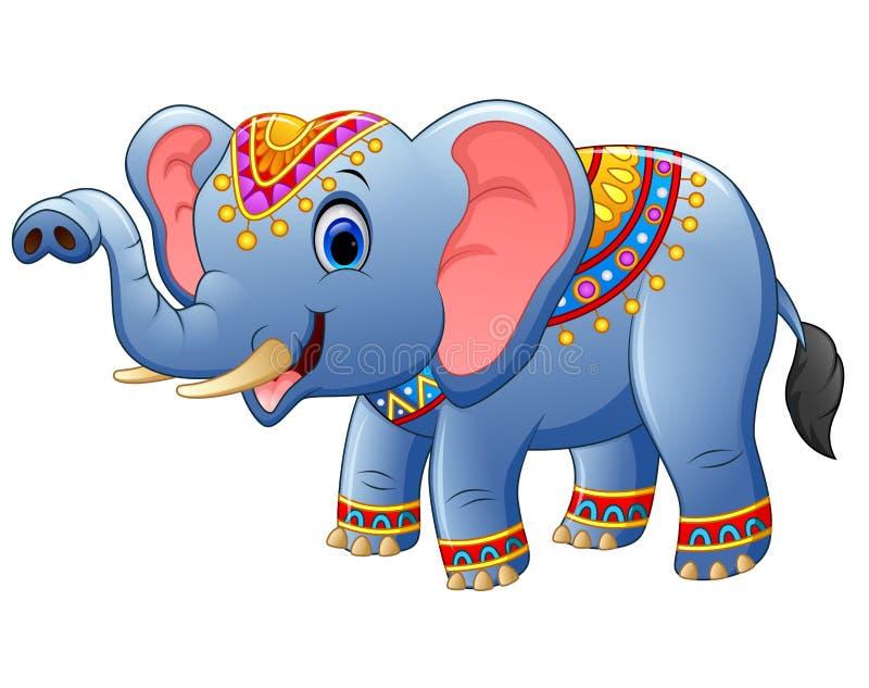 Posa sveglia dell'elefante del fumetto royalty illustrazione gratis