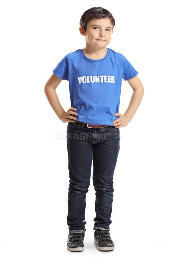 Posa volontaria del bambino fotografia stock