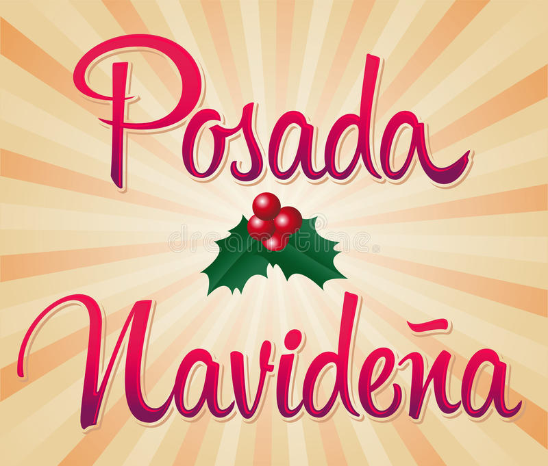Posada Navidena - mexicansk traditionell jul c stock illustrationer