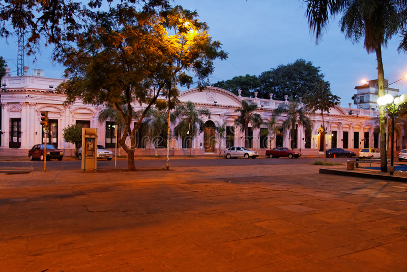 Posadas City Hall Facade Argentina royalty free stock images
