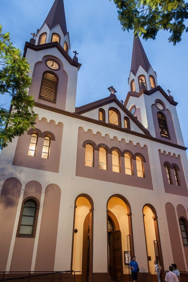 Posadas-Kathedralen-Fassade Argentinien stockfoto