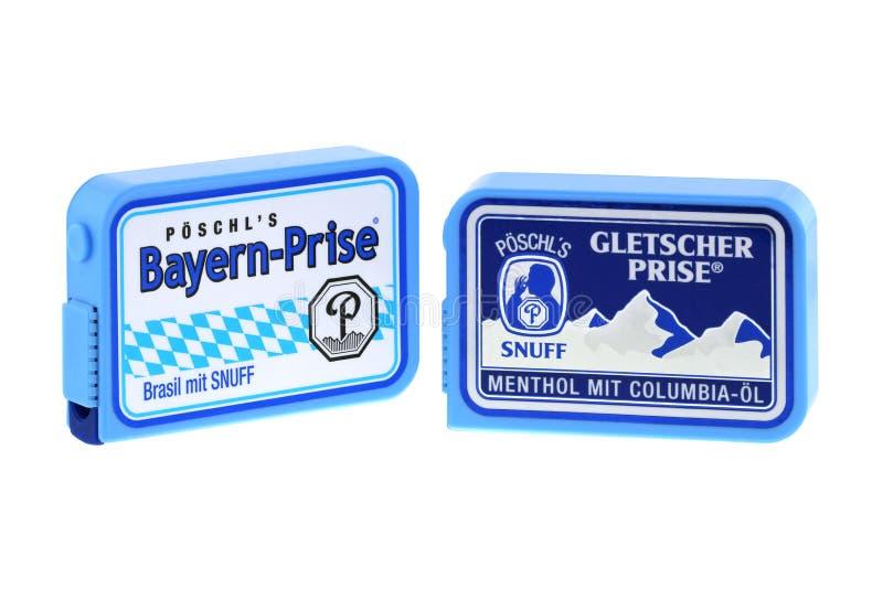 Poschl Gletscher Prise, een neussnuifje in Beieren, Duitsland snuifje stock afbeelding