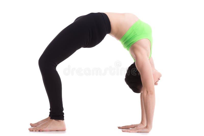 Pose ascendante de yoga d'arc (roue) image libre de droits