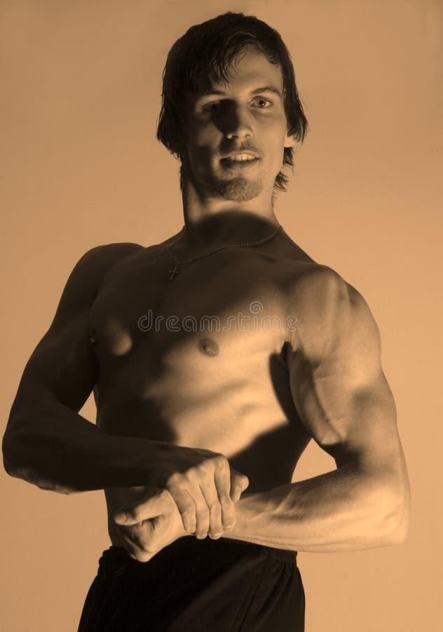 Pose Of Bodybuilder Stock Photos
