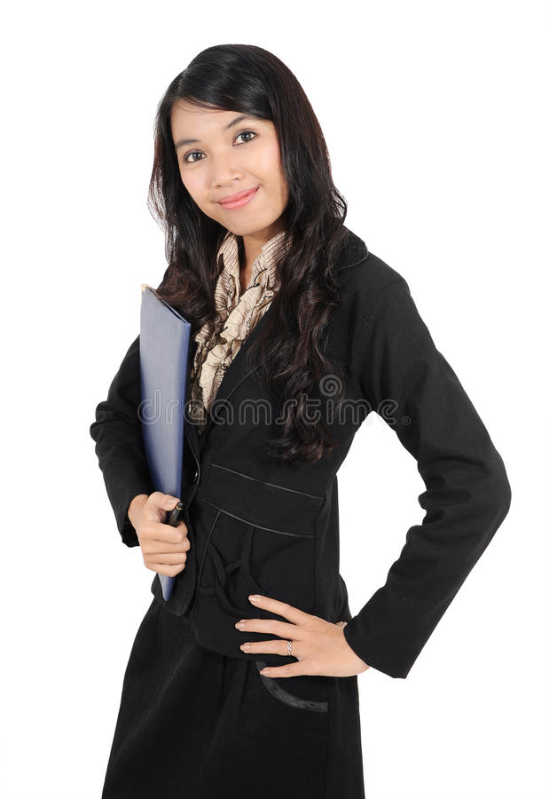 Pose Of A Businesswoman Stock Image