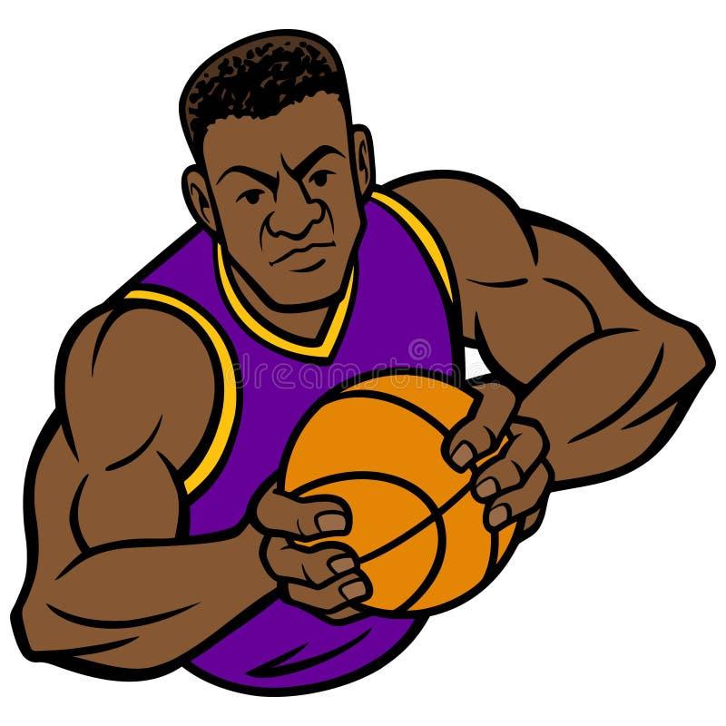 Pose d'offense de joueur de basket illustration stock
