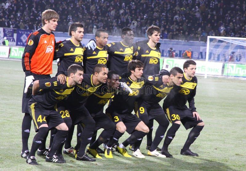 Pose da equipe de Tiraspol do xerife de FC fotos de stock
