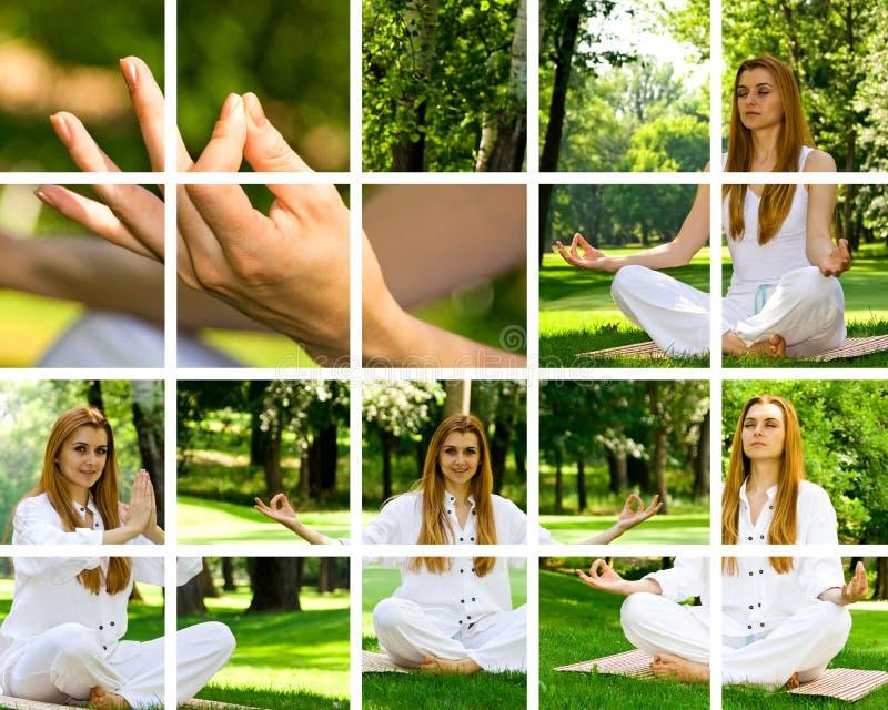 Pose da ioga fotografia de stock