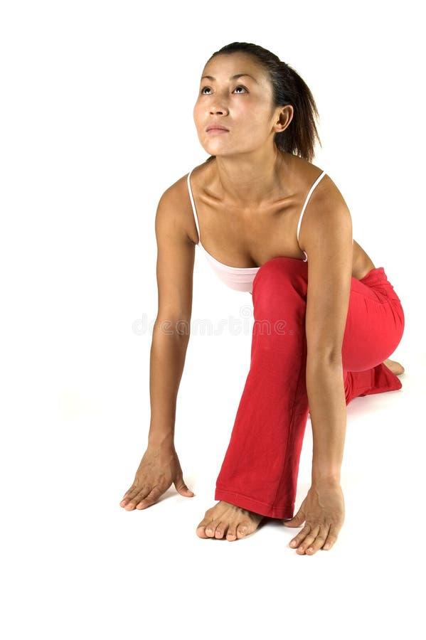 Pose da ioga fotos de stock