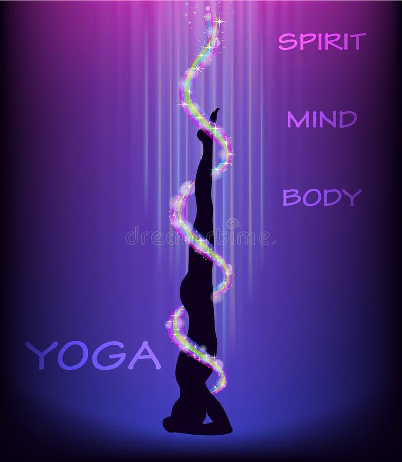 Pose da ioga - headstand. ilustração do vetor