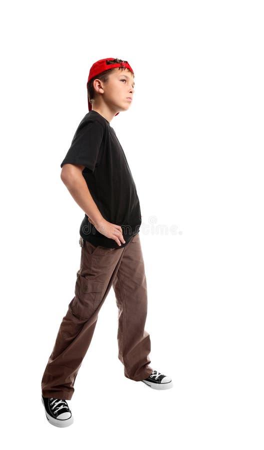 Pose da posição da juventude foto de stock