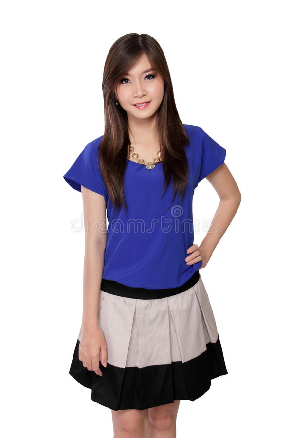 Pose de belle adolescente asiatique image stock