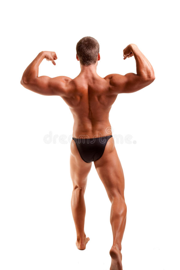 Pose de Bodybuilder photographie stock libre de droits