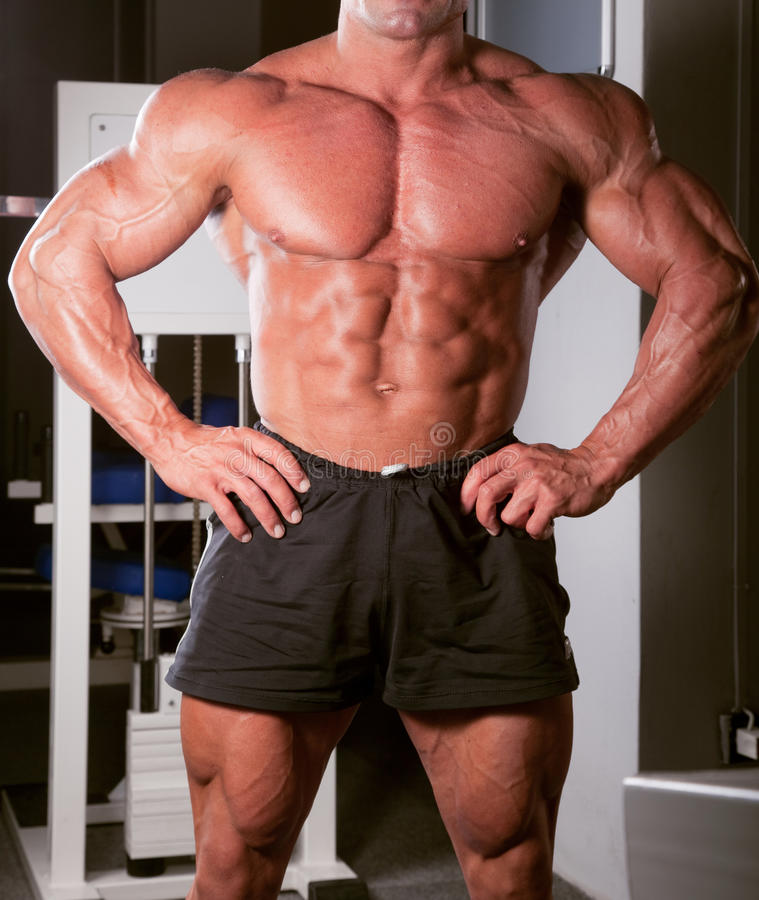 Pose de Bodybuilder photo libre de droits