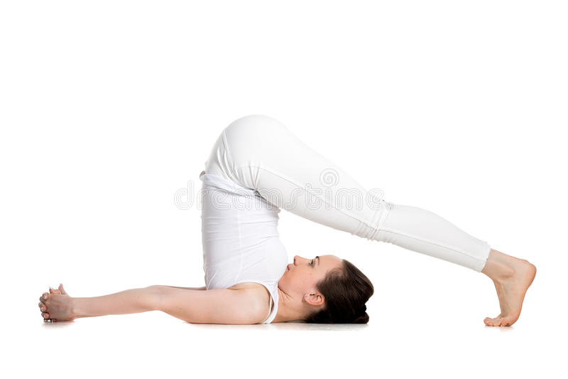 Pose de charrue de yoga photos libres de droits