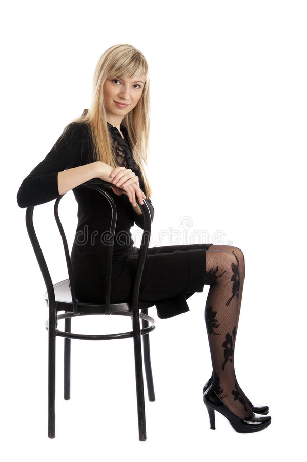 Pose de fille de mode photographie stock