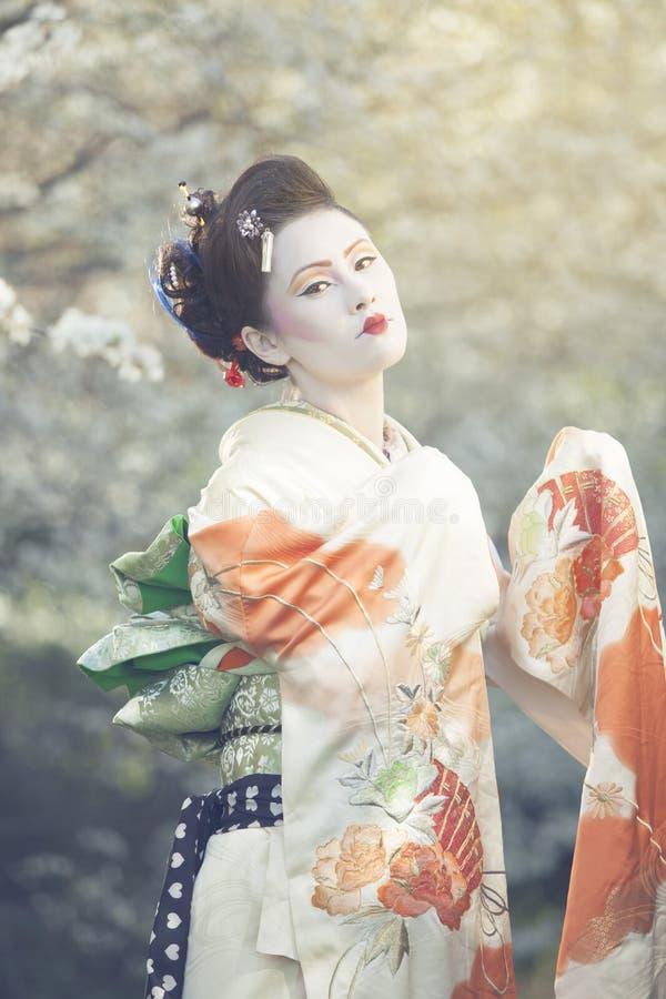 Pose de geisha photographie stock