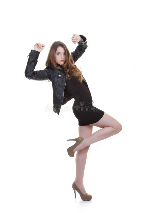 Pose de l'adolescence de mode sûre image stock