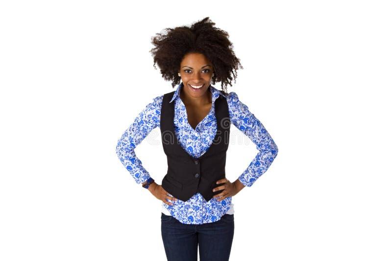 Pose de la femme afro-américaine photographie stock libre de droits