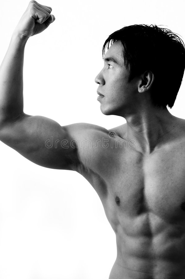Pose de muscle images stock