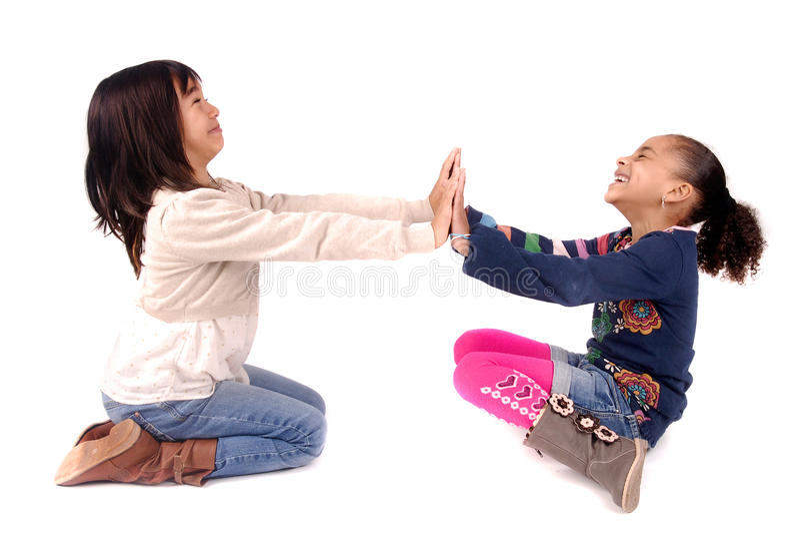 Pose de petits enfants images libres de droits