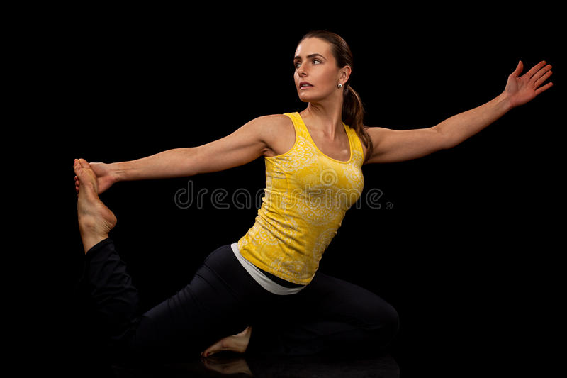 Pose de yoga image stock