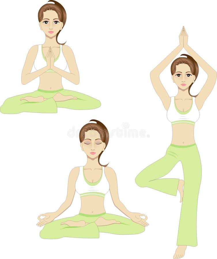 Pose de yoga illustration libre de droits